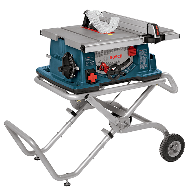 Worksite Table Saw with Wheeled Stand - 10""