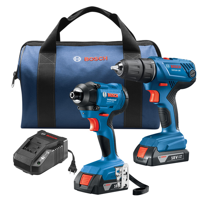 """Compact 1/2"""" Drill/Driver and 1/4"""" Hex Impact Driver - 18 V"""