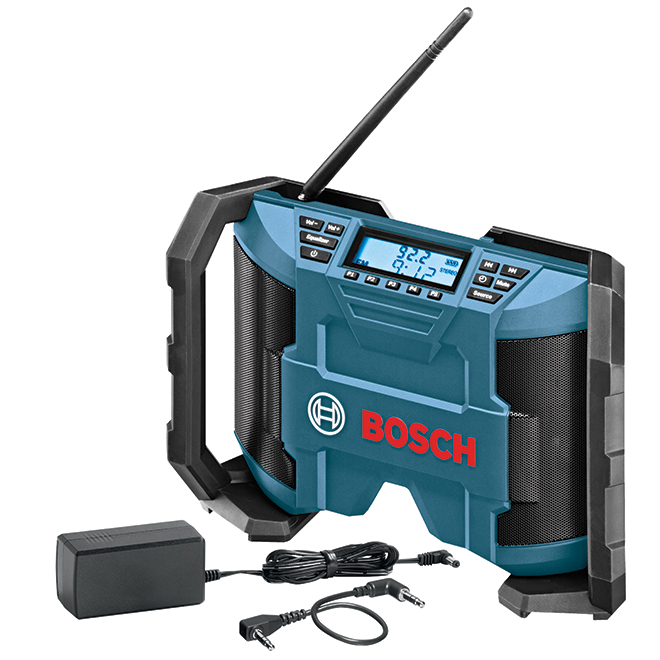 Radio de chantier à batterie, 2 haut-parleurs 5 W