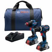 Impact Driver and Hammer Drill Kit - Cordless - 18 V