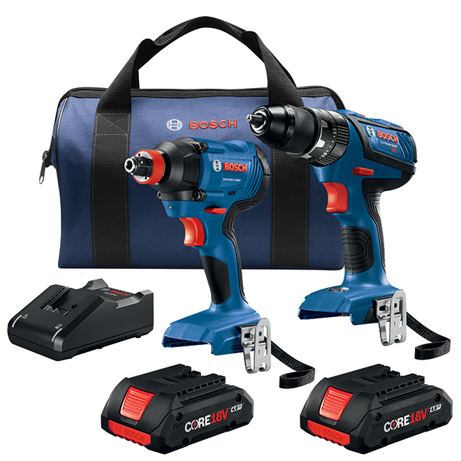 Ensemble visseuse/perceuse Bosch(MD) sans fil, 18 V lithium-ion