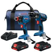 Bosch(R) Driver/Drill Set - Cordless - 18 V Lithium-Ion