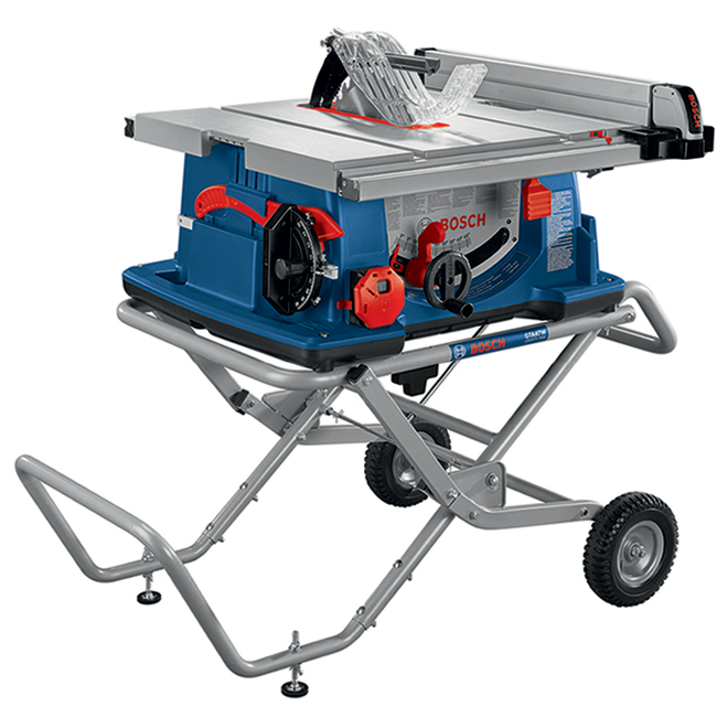 Bosch Worksite Corded Table Saw - 10-In - Gravity-Rise Wheeled Stand