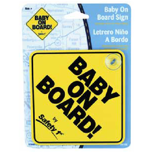 """""""Baby On Board"""" Car Sign - 5"""""""