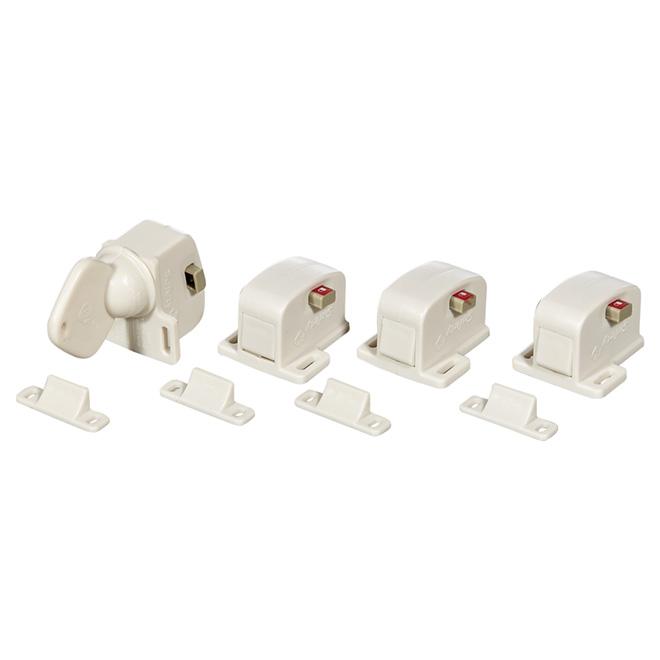Magnetic Locking System - White
