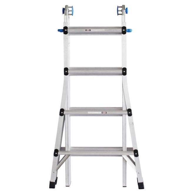 UBERHAUS Telescopic Ladder - 4 Positions - 17' - Aluminium