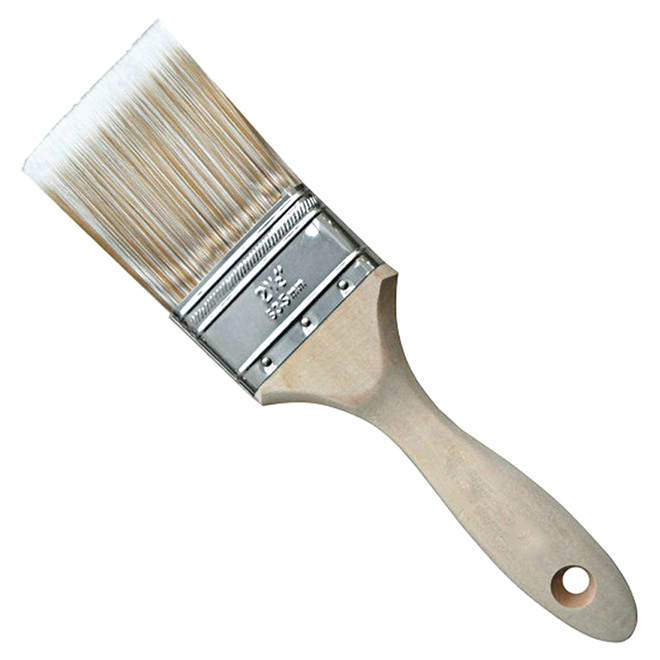 "2.5"" Straight Brush - Polyester and Nylon - Wooden Handle"