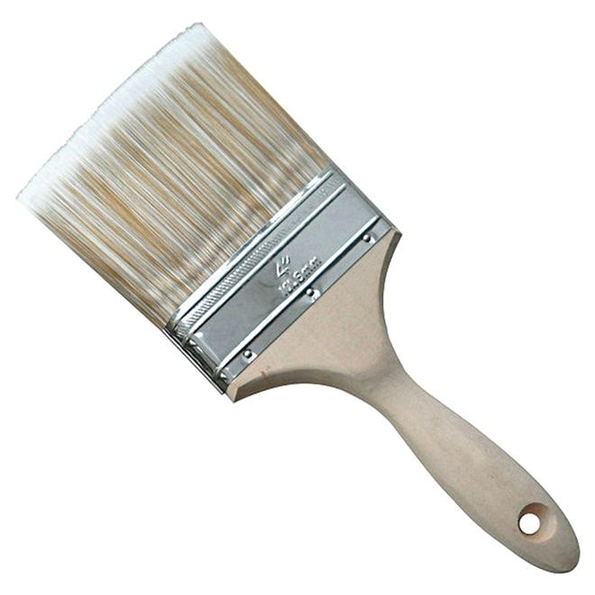 """4"""" Straight Brush - Polyester and Nylon - Wooden Handle"""
