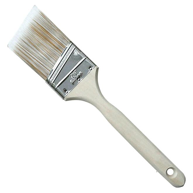 """Pinceau angulaire de 2,5"""", polyester et nylon, manche en bois"""