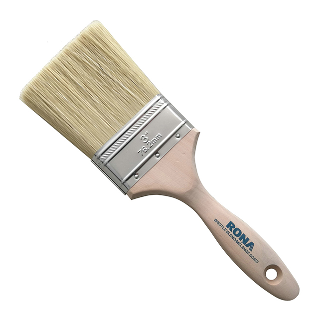 "3"" Straight Brush - Mixed Bristles - Wooden Handle"