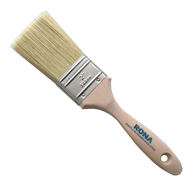 """Pinceau droit 2"""", soies mixtes, manche en bois"""