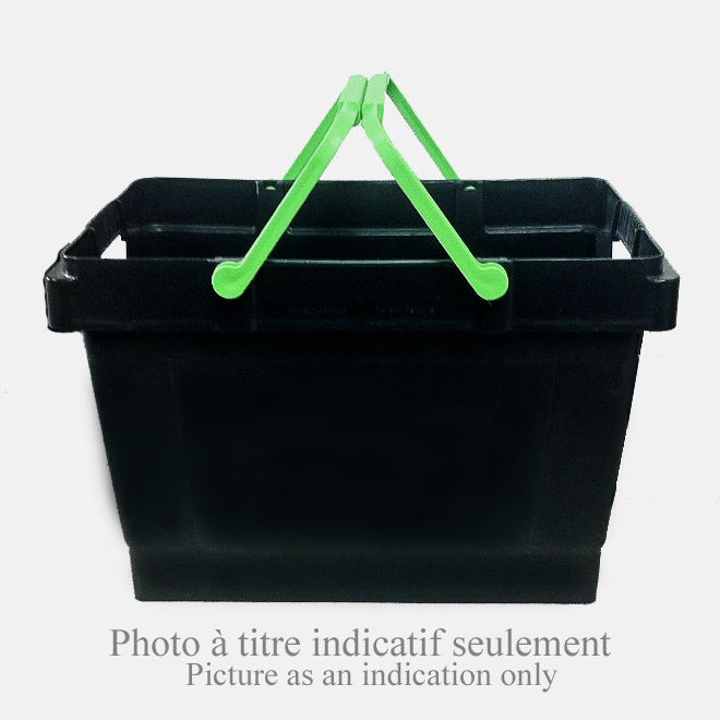 Boîte de transport à poignées Handy Bin, 35 l, noir/vert