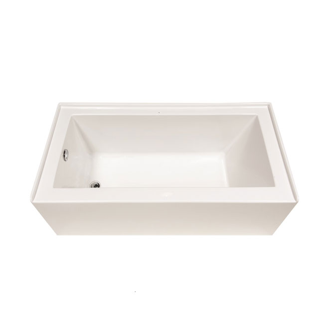 "rona eco plenitude acrylic bathtub - left - 31"" x 60"" x 20"" plh6031"