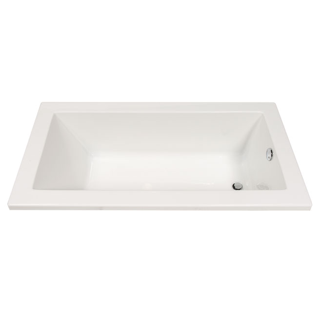 Drop-In Bathtub ''Plenitude'' - Acrylic - 60 x 31'' - White