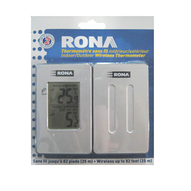 INDOOR/OUTDOOR THERMOMETER   RONA