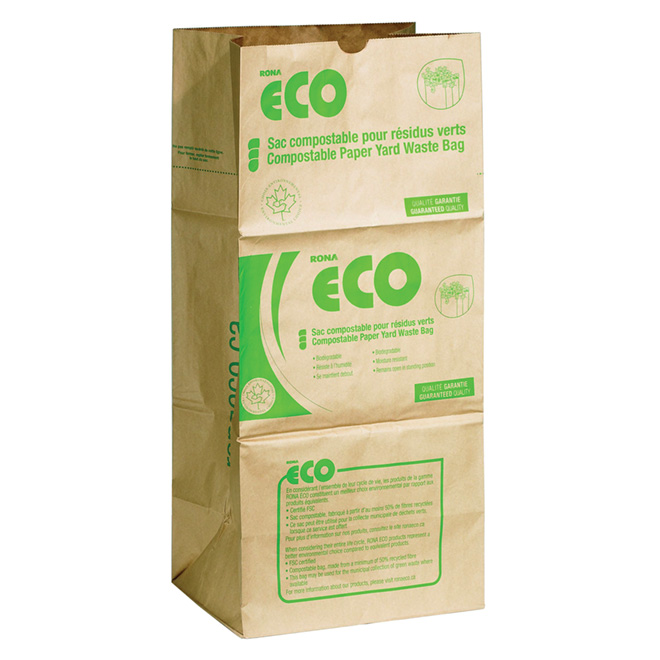 Compostable Paper Yard Waste Bags - 10/Pack