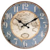 Wall Clock - World Map - 12
