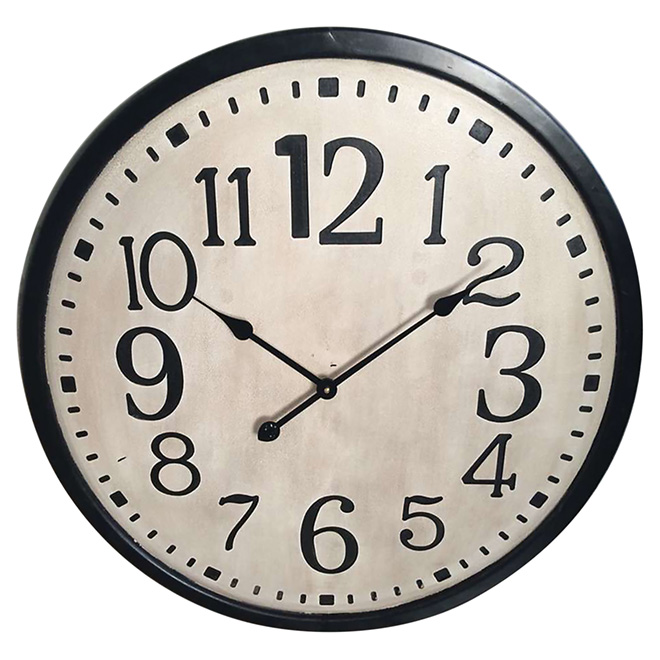 Round Wall Clock - 70 cm x 4.5 cm - White