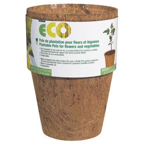 Pots - 4 1/4-In. Biodegradable Plantable Pots