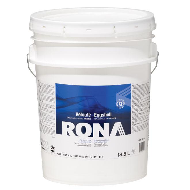 Peinture d'intérieur RONA, latex, 18,5, blanc, velouté