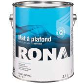 Peinture d'intérieur pour plafond RONA, latex, 3,7 l, fini mat, blanc naturel