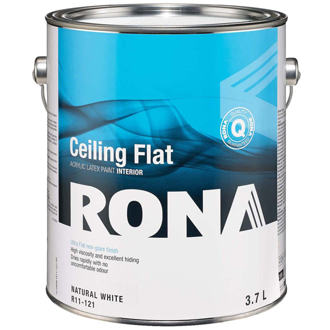 Latex paint made of
