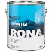 RONA Interior Ceiling Paint - Latex - 3.7 L - Flat Finish - Natural White