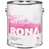 Peinture d'intérieur à plafond RONA, latex, 3,78 l, blanc métamorphose