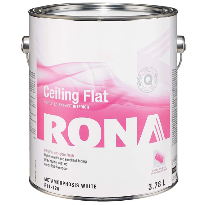 RONA Interior Ceiling Paint - Latex - 3.78 L - Metamorphosis White