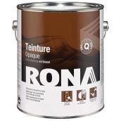 Teinture d'extérieur pour bois Rona, opaque, base blanche, 3,78 l