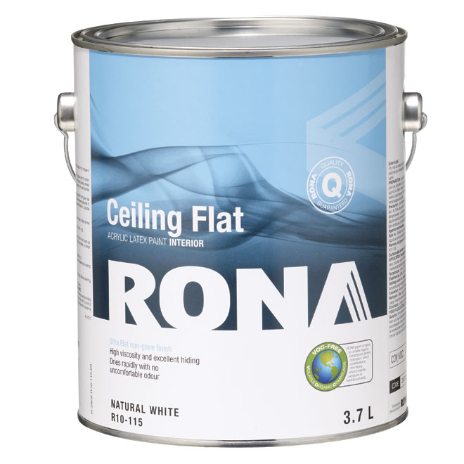 """Flat Finish"" interior ceilings paint"