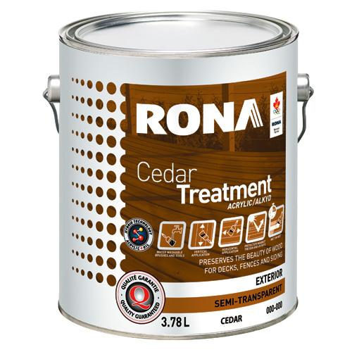 Cedar Treatment - Exterior - Semi-Transparent - 3.78 L