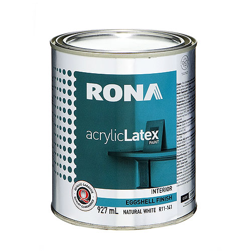 RONA Paint - Interior - Latex - 927 ml - White - Eggshell