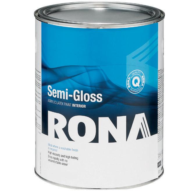 RONA Paint - Interior - Latex - 927 ml - White - Semi-Gloss