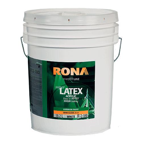 Exterior Acrylic Latex Paint - 18.5 L - White - Semi-Gloss