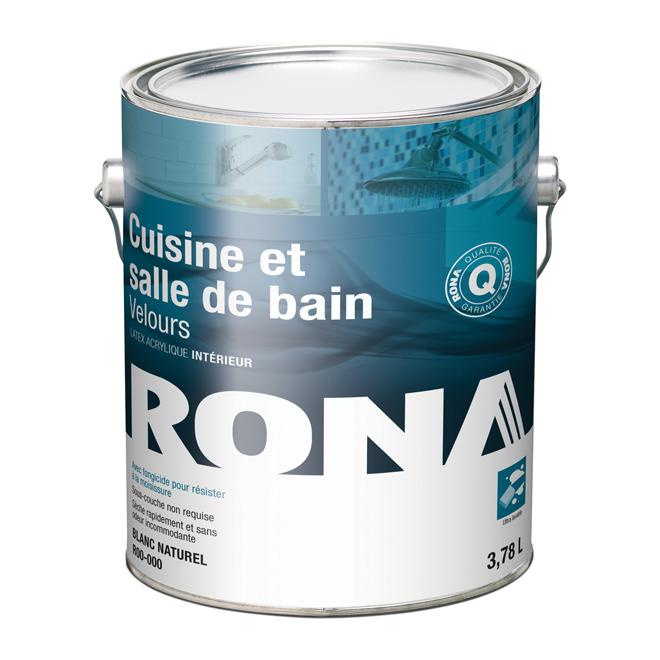 Rona peinture pour cuisine et salle de bains rona - Peinture pour plafond salle de bain ...