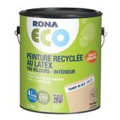 Peinture d'intérieur recyclée RONA ECO, latex, 3,78 l, fini velours, champ de blé