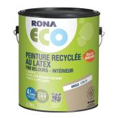 Peinture d'intérieur recyclée RONA ECO, latex, 3,78 l, fini velours, argile
