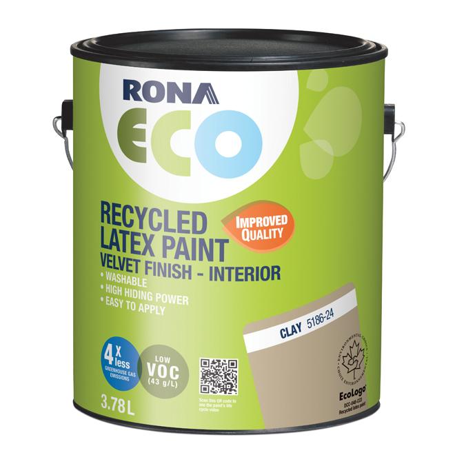RONA ECO - Recycled Interior Paint - Latex - 3.78 L - Velvet Finish - Clay
