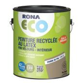 Peinture d'intérieur recyclée RONA ECO, latex, 3,78 l, fini velours, pomme de pin