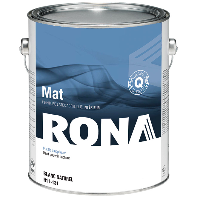 Peinture intérieure, latex acrylique, 3,78 l, blanc, mat