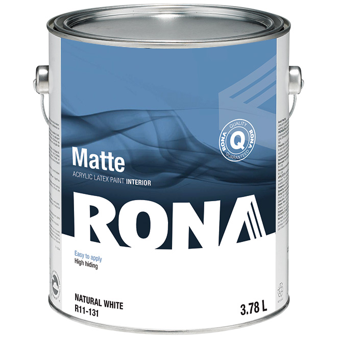Interior Acrylic Latex Paint - 3.78 L - White - Matte