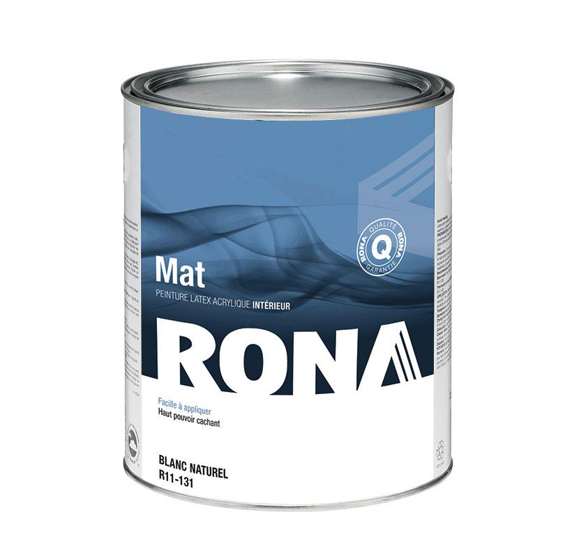 Peinture d'intérieur RONA, latex, 946 ml, fini mat, blanc naturel
