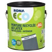 Peinture recyclée au latex, fini velours, Graphite, 3,78 l