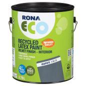 Recycled Latex Paint - Velvet Finish - Graphite - 3.78 L