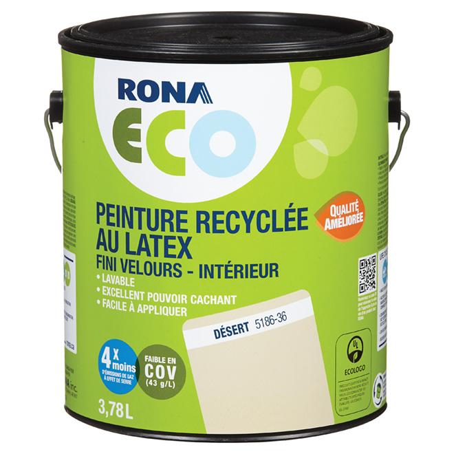 Peinture recyclée au latex, fini velours, Désert, 3,78 l