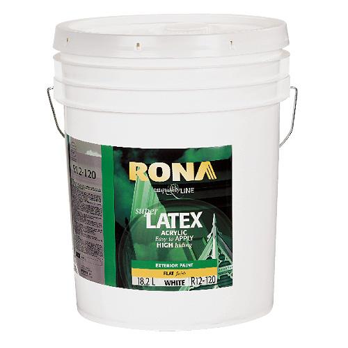Exterior Latex Acrylic Paint - 18.9 L - White - Matte