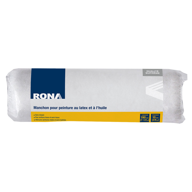 Manchon de rechange Rona, sans charpie, 190 mm x 10 mm