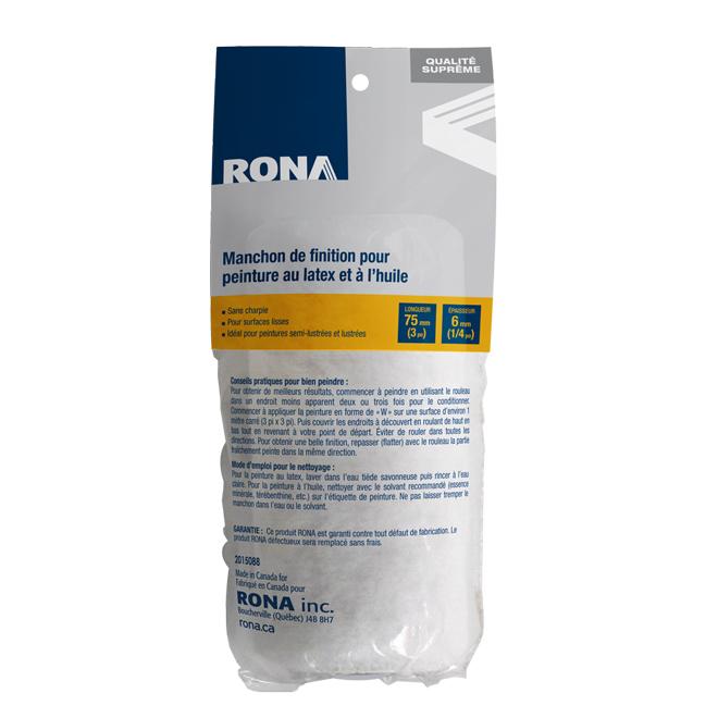 Manchon de rechange Rona, sans charpie, 75 mm x 6 mm
