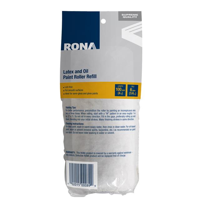 Rona Roller Refill - Lint Free - 100 mm x 6 mm
